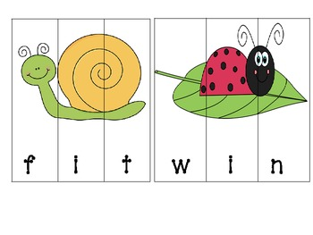 Spring Insect/Bug CVC Puzzles (Common Core Aligned)