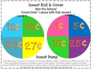 Spring Insect/Bug Coin Roll & Cover-Differentiated