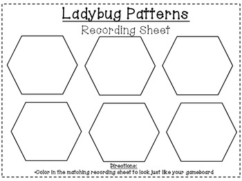 Spring Insect/Bug Pattern Blocks-(Common Core Aligned)