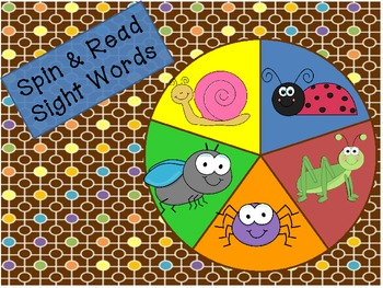 Spring Insect/Bug Spin & Read-Differentiated (Common Core Aligned)