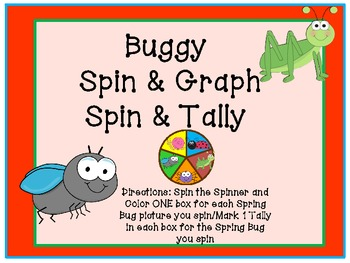 Spring Insect/Bug Spin and Graph/Tally (Common Core)