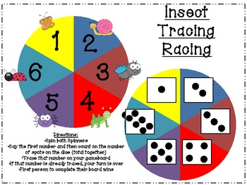 Spring Insect/Bug Tracing Racing Addition (Common Core)