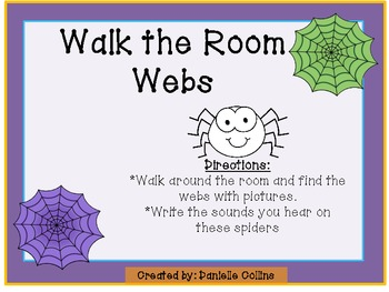 Spring Insect/Bug Walk the Room CVC Webs (Common Core Aligned)