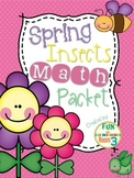 {FREE} Spring Insects Math Packet