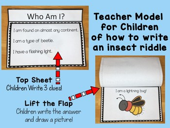 SPRING ACTIVITIES Insects, Bugs, and Creatures Riddles!
