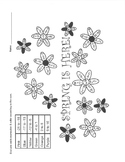 Spring Integer Sums Coloring Sheet