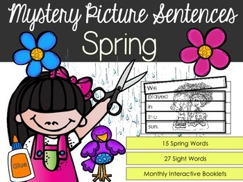 Spring Interactive Activity Booklets {Mystery Picture Sentences}