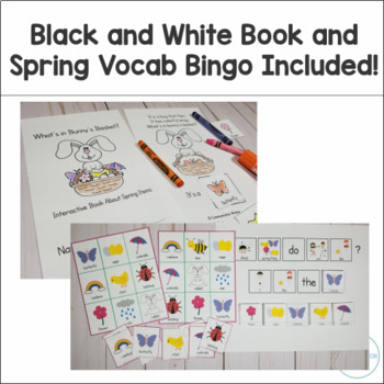 Spring Interactive Book and Activities - What's in Bunny's Basket?