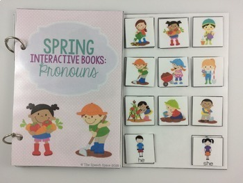 Spring Interactive Books - Pronouns, Prepositions, & Actions