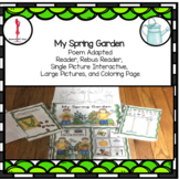 Spring Interactive Poem: Garden Theme, Differentiated, Adapted, Circle Time