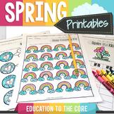Spring Activities   Writing   ELA   Math