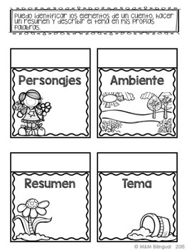 Spring Interactive Reading Flaps {SPANISH}