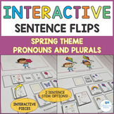 Spring Interactive Sentence Flips - Pronouns and Plurals