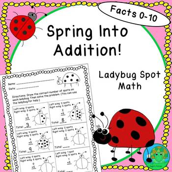 Spring Into Addition Ladybug Spot Math Facts 0-10
