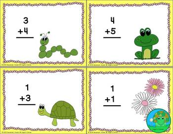 Spring Into Addition Task Cards Set 1 Facts 0-10