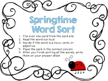 Spring Into Adjectives!!