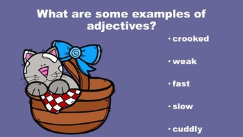 Spring Into Adjectives - A PowerPoint Game