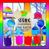 Spring Into Distance Learning BUNDLE - 7 Writing or Math Crafts for K, 1