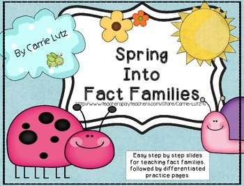 Spring Into Fact Families (Addition & Subtraction)