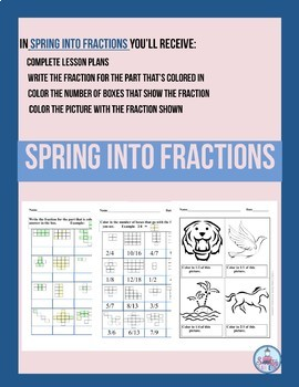 Spring Into Fractions Primary Grades 2-5, Special Ed. & Homeschooling
