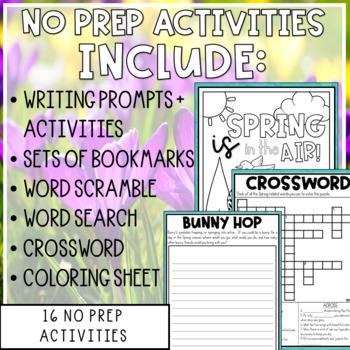 Spring Into Fun Mini-Activity Pack / Editable Bingo Cards
