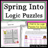 Spring Logic Puzzles in Print Worksheets or Easel Docs