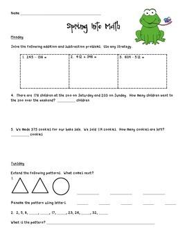 Spring Into Math!