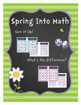 Spring Into Math: Addition and Subtraction Board Game