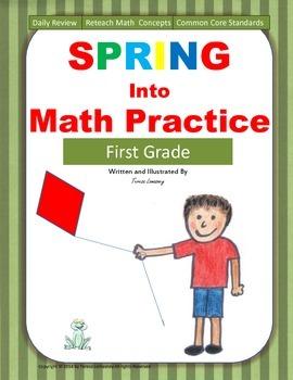 Math Morning Work Spring Into Math Practice  First Grade