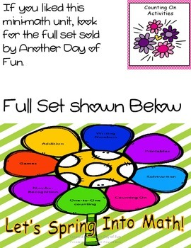 Spring Into Math- counting on mini unit