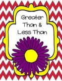 Spring Into Math- greater than & less than mini unit