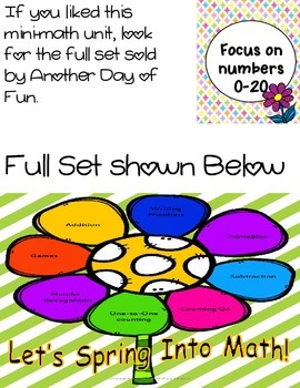 Spring Into Math- numbers 0-20 mini unit
