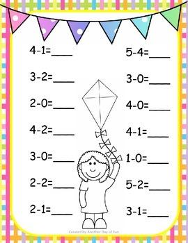 Spring Into Math- subtraction mini unit