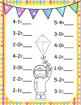 Spring Into Math- subtraction mini unit
