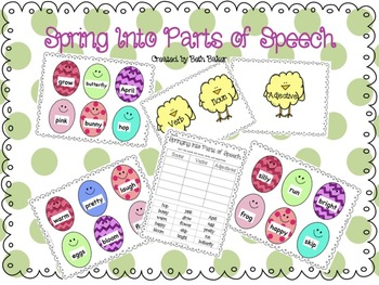Spring Into Parts of Speech