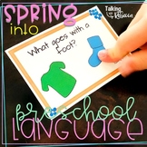 Spring Receptive and Expressive Preschool Language Activities for Speech Therapy