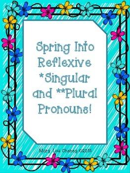 Spring Into Reflexive Pronouns (Singular/Plural)