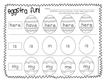Spring Into Sight Words!