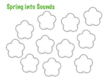 Spring Into Sounds Articulation Worksheet [Blank]