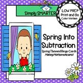 Spring Into Subtraction:  LOW PREP Spring Themed Subtraction Bingo