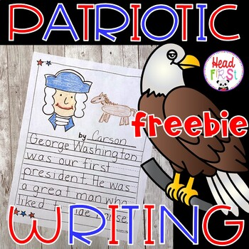4th of July American Symbols Patriotic Writing FREEBIE - Journal, Prompts, Paper