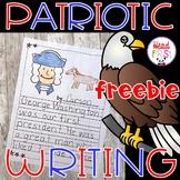 Distance Learning American Symbols Patriotic Writing FREEBIE