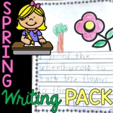 First Grade Writing Prompts, Journals, Seasonal Paper, Page Toppers for SPRING