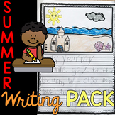 Editable First Grade Writing Prompts, Journals, Paper, Page Toppers for SUMMER
