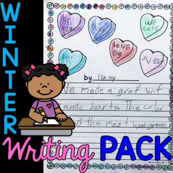 Spring Into Writing - Winter Edition - Journal, Prompts, Paper, Page Toppers