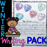 Editable First Grade Writing Prompts, Journals, Paper, Page Toppers for WINTER