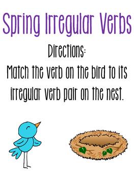 Spring Irregular Verbs Match