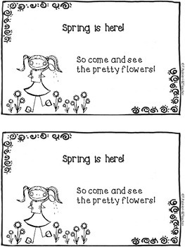 Spring Is Here! A sight word mini book