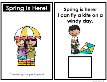 Spring Is Here! Adapted Book