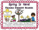 Spring Is Here!  Foldable Readers PLUS Printable!  3 Versions PLUS B&W